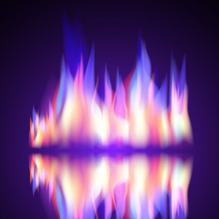 gas flame: Gas Fire flame burn vector background