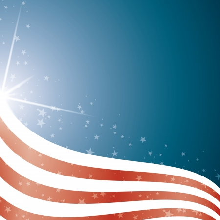 American Flag, Vector background stripes and stars Vector