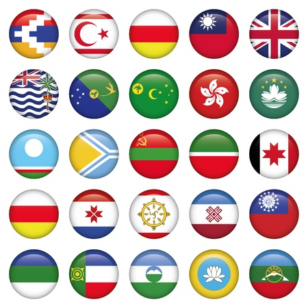 Asiatic Round Flags Vector