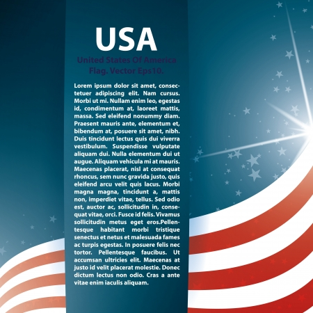veterans day: USA flag stars and Text Abstract Background Illustration