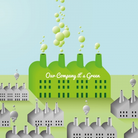 eco building: Green Company and Factory abstract Background