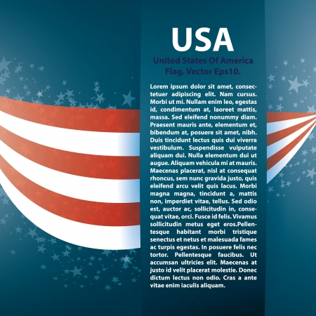 presidents day: Patriotic wave background with stripes, stars