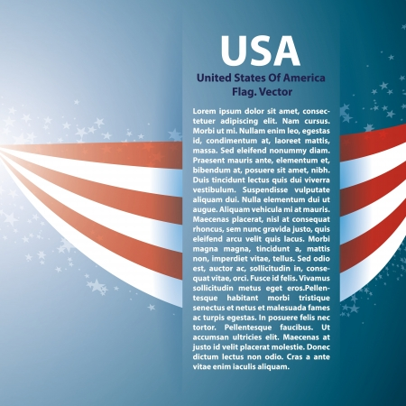 patriotic border: Background with USA stripes and text space