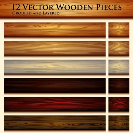 Drewniane tekstury tła bez szwu ilustracji Ilustracje wektorowe