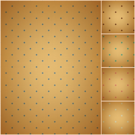 faded colorful polka dot seamless textured pattern Vector
