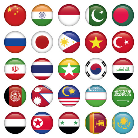 georgia flag: Antarctic and Russian Flags Round Buttons, Zip includes 300 dpi JPG, Illustrator CS
