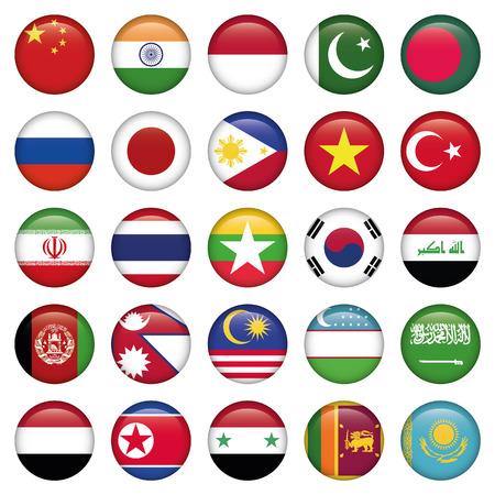 bandera chilena: Banderas de la Antártida y de Rusia Ronda Botones, Código postal incluye 300 dpi JPG, Illustrator CS