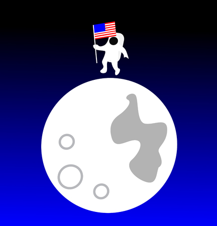 American astronaut on the Moon