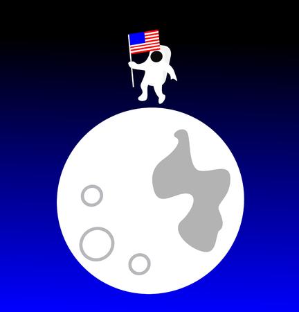American astronaut on the Moon