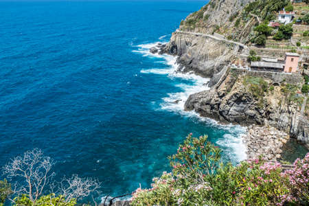 The road of Love between Riomaggiore and Manarola in beautiful Cinque Terre