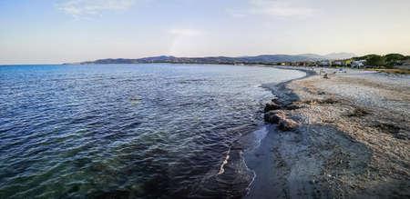 Ultra wide panorama of the beach of La Caletta in Siniscola Stock Photo