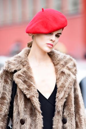 Beauty at Giorgio Armani fashion show. Milan fashion week AW 201819 Sajtókép