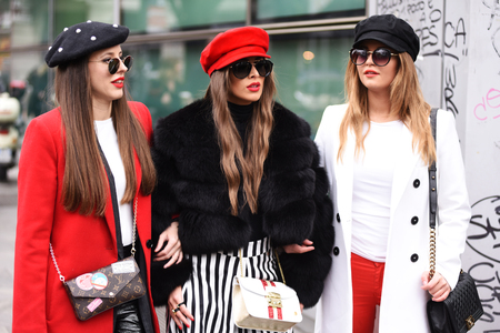 A group of fashion lovers at Armani fashion show AW 2018/19