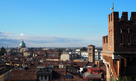 Cityscape of Udine, ancient capital of Friuli Homeland, now in Italy