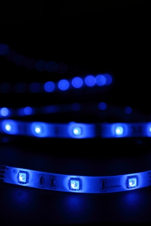 blue LED strip Фото со стока - 14511882