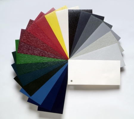 coatings: color samples Stock Photo