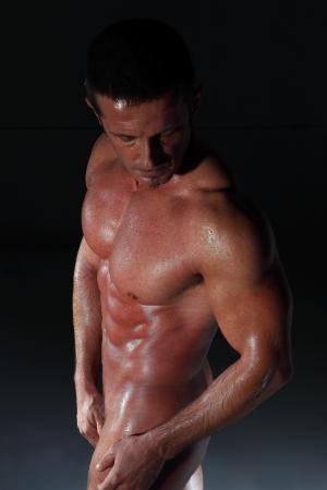 muscular man naked black Stock Photo - 14900234