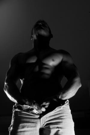 seminude: seminude sfondo muscoloso uomo di colore