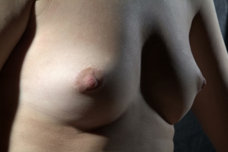 nice breast: breast of a young woman