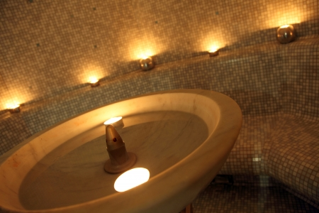 turkish bath: gym - especially the fountain in the room for turkish bath