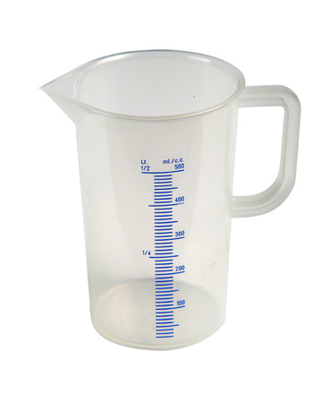 measuring cup: graduated measuring cup for liquid plastic