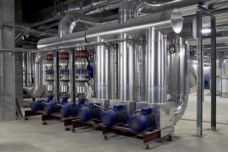 planta industrial para el tratamiento del aire Foto de archivo