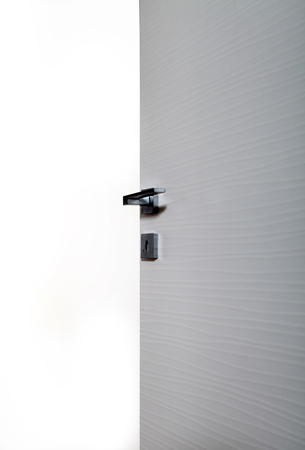 new entry: clear door open, with the handle, on white background
