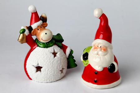 candleholder: candleholder various christmas subjet on a white background