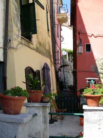 liguria: streets and alleys of Portovenere, Liguria, italy