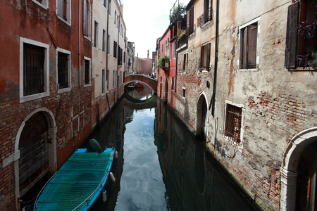 rialto: venice, small pedestrian bridge over the canals Stock Photo