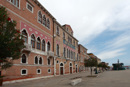 venice, buildings and inner streets of the historic center Editorial