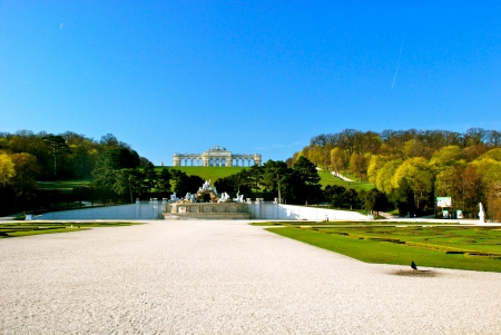 Gloriette, Schönbrunn park, Vienna Stock Photo