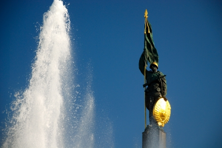 Soviet soldier monument in Vienna, Austria