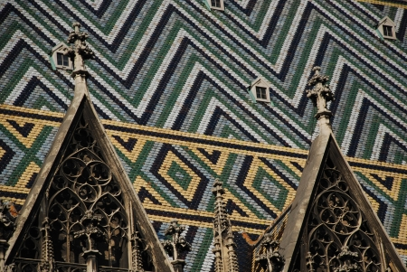 Stephansdom roof, Vienna Stock Photo
