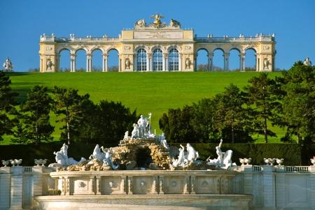 austria: Gloriette, Schönbrunn park, Vienna Stock Photo