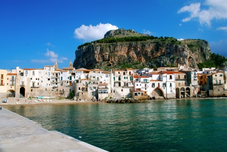Village of Cefalu, Sicily, Italy