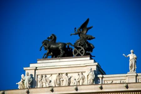 Quadriga o the roof of the Austrian parliament building, Vienna Stock Photo - 15950539