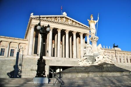 Athena Pallas fountain, Austrian Parliament building, Vienna Stock Photo - 15947560