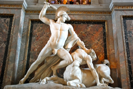 chiseled: Theseus Fighting the Centaur by Antonio Canova, Kunsthistorisches Museum, Vienna