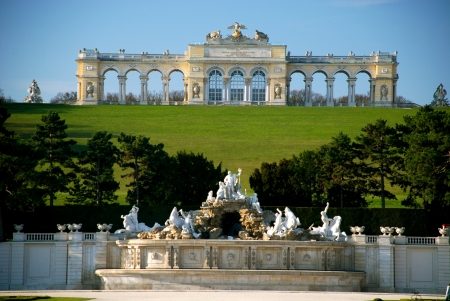 the gloriette: Gloriette, Schonbrunn park, Vienna Editorial