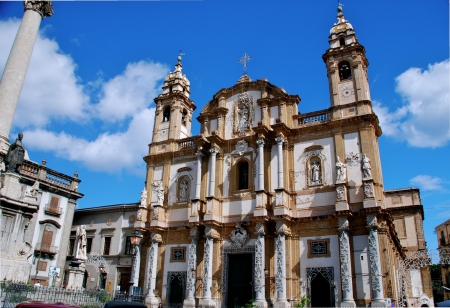 Church of San Domenico, Palermo, Sicily Stock Photo