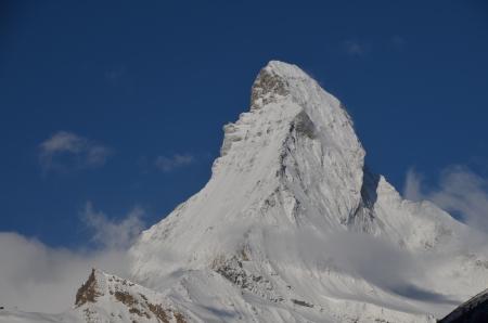 zermatt: Matterhorn, Swiss Alps, view from Zermatt Stock Photo