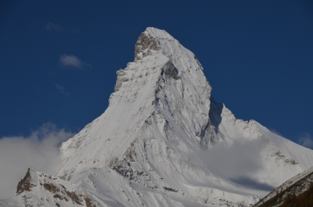Matterhorn, Swiss Alps, view from Zermatt Stock Photo