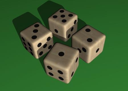 dice wood illustration isolated on withe background illustration