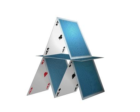 Poker-Karten, Haus, Abbildung