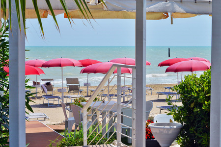view of the waterfront of Grottammare, Marche, Italy