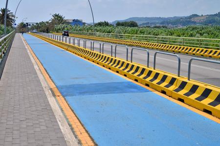 road with bike path Banco de Imagens
