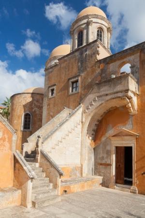 Monastery of Agia Triada Tsangarolon in the Akrotiri. Crete. Greece.