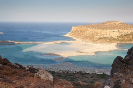 Beautiful and famous Balos Beach  Crete  Greece  Early morning