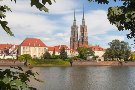 View at Cathedral Island and the Odra river. Wroclaw city. Poland. 17.10.2012 photo